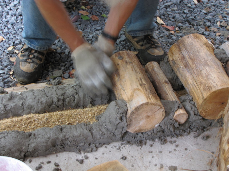 Cordwood Construction Insulation : Stone table farm cordwood catch up