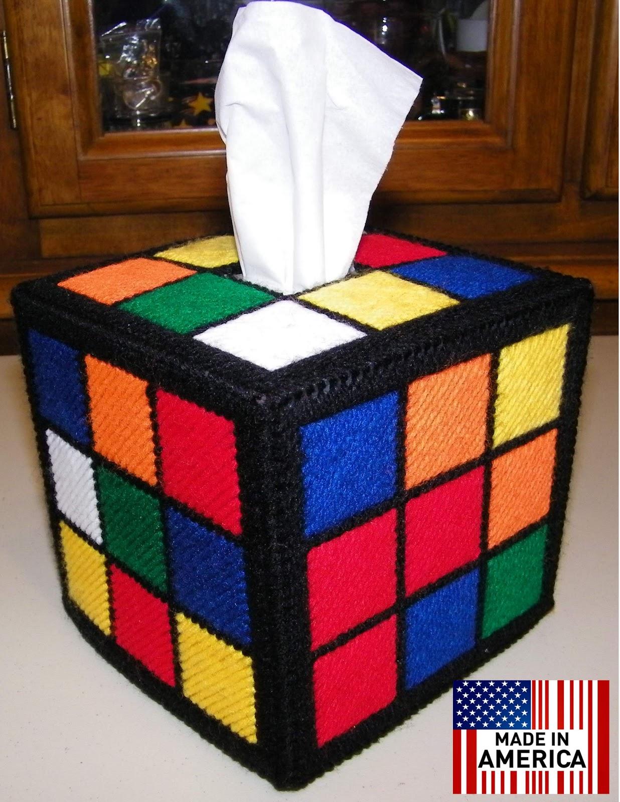 The Handmade Rubiks Cube Tissue Box Cover Rubik 39 S Rubiks