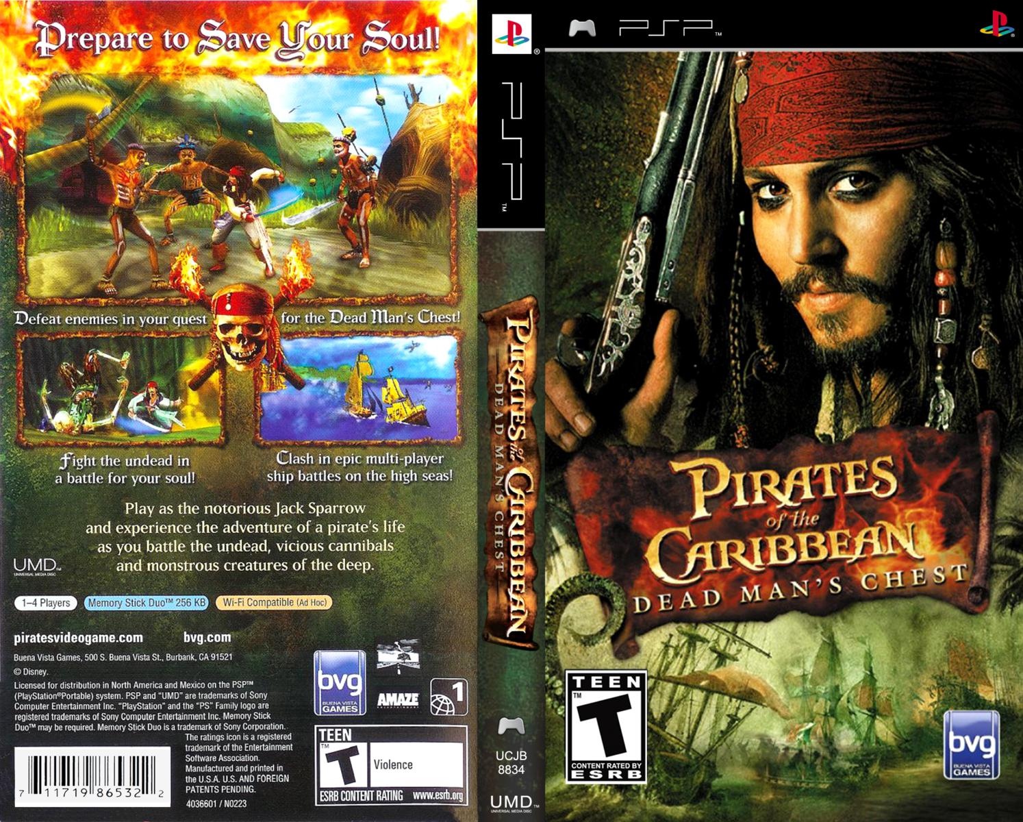 Capa pirates of the caribbean dead mans chest psp