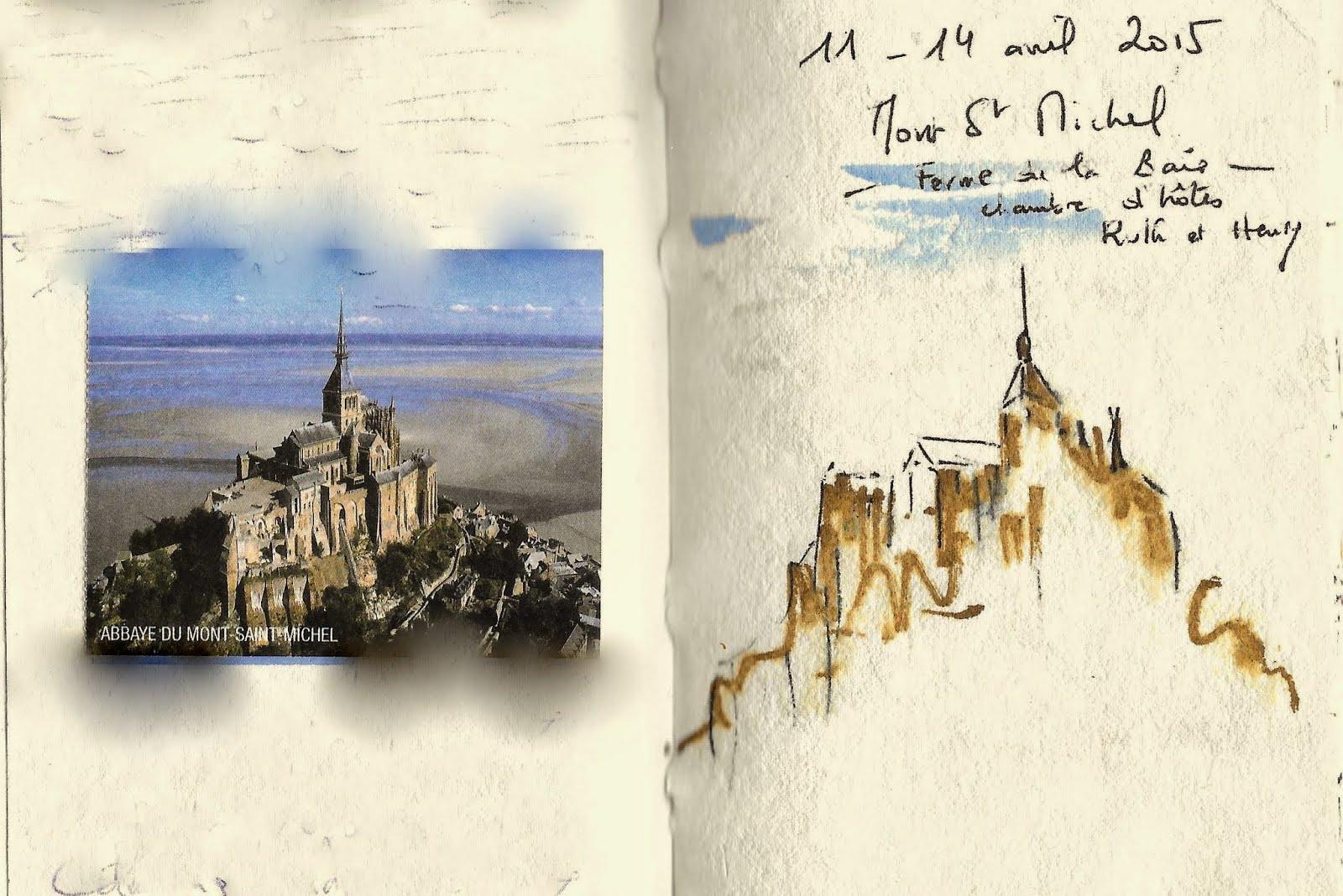 Carnet de voyage Mont St Michel