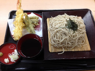Tenzaru Soba ; Tempura and Soba Noodles Served on a Zaru Basket