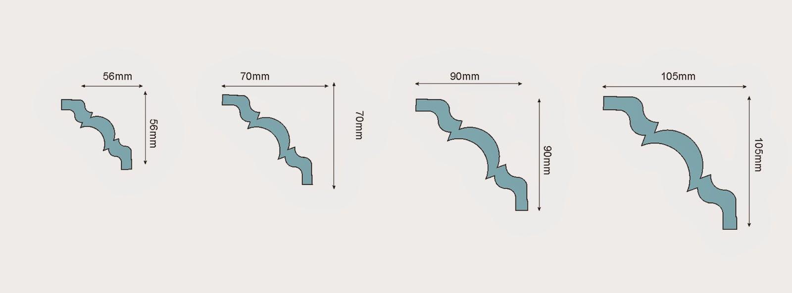 dimensiuni baghete decorative din polistiren, profile decorative polistiren pentru interior casa