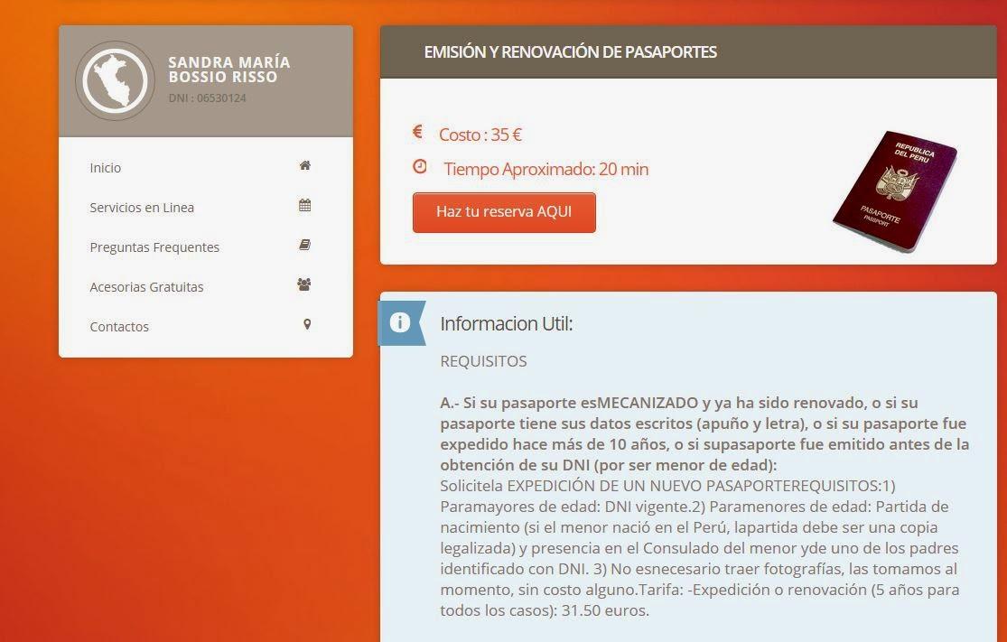 Citas online embajada italiana