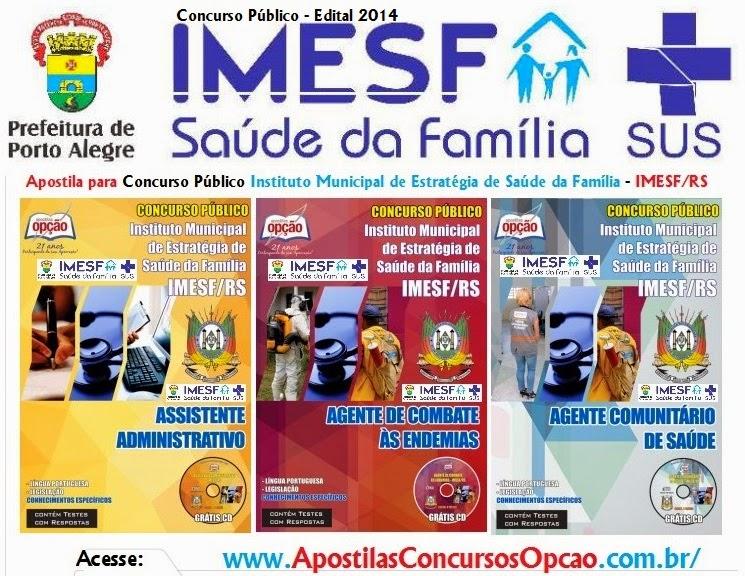 Apostila IMESF Saude da Familia de Porto Alegre RS - Concurso PUblico Edital 2014