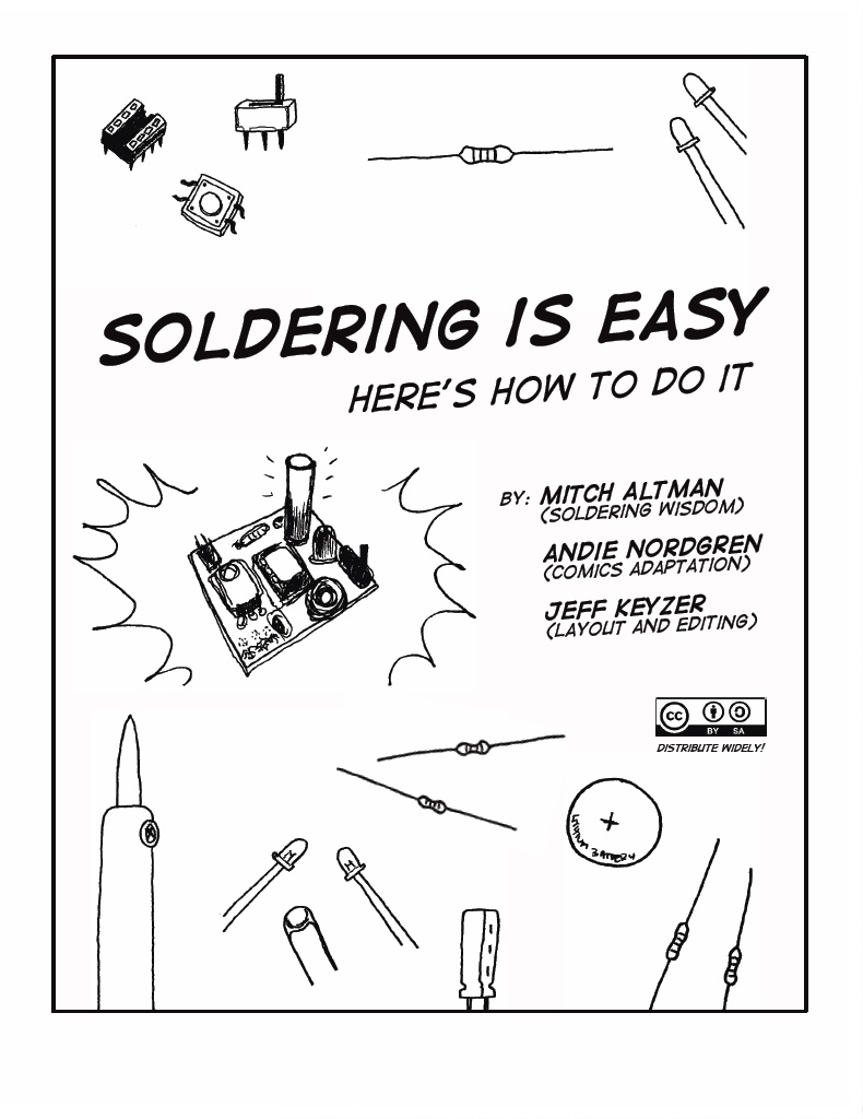 Comic Book Cover Tutorial ~ The q source resource quot soldering is easy a comic book