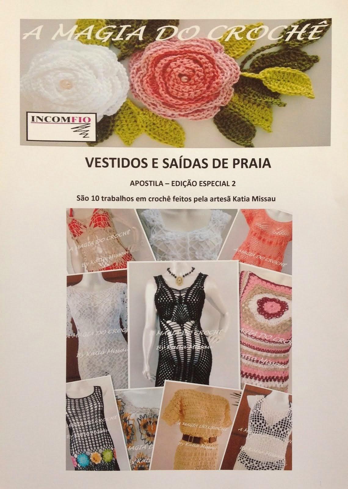 """LANÇAMENTO! Apostila Vestidos e Saídas de Praia """"Livro"""""""