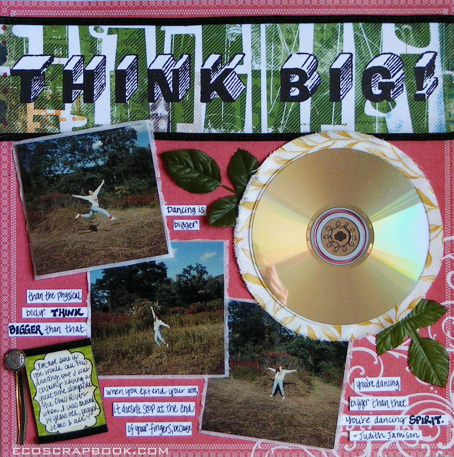 Scrapbook ideas recycled that s the title of my recycled scrapbook layout my goal to