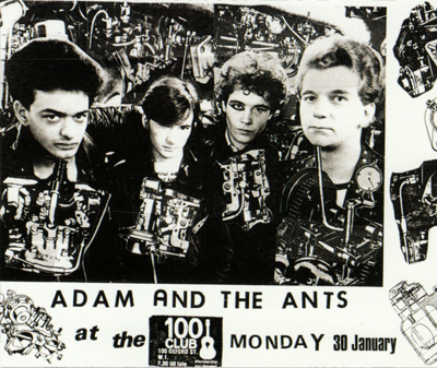 Poster Adam and the Ants, 1980.