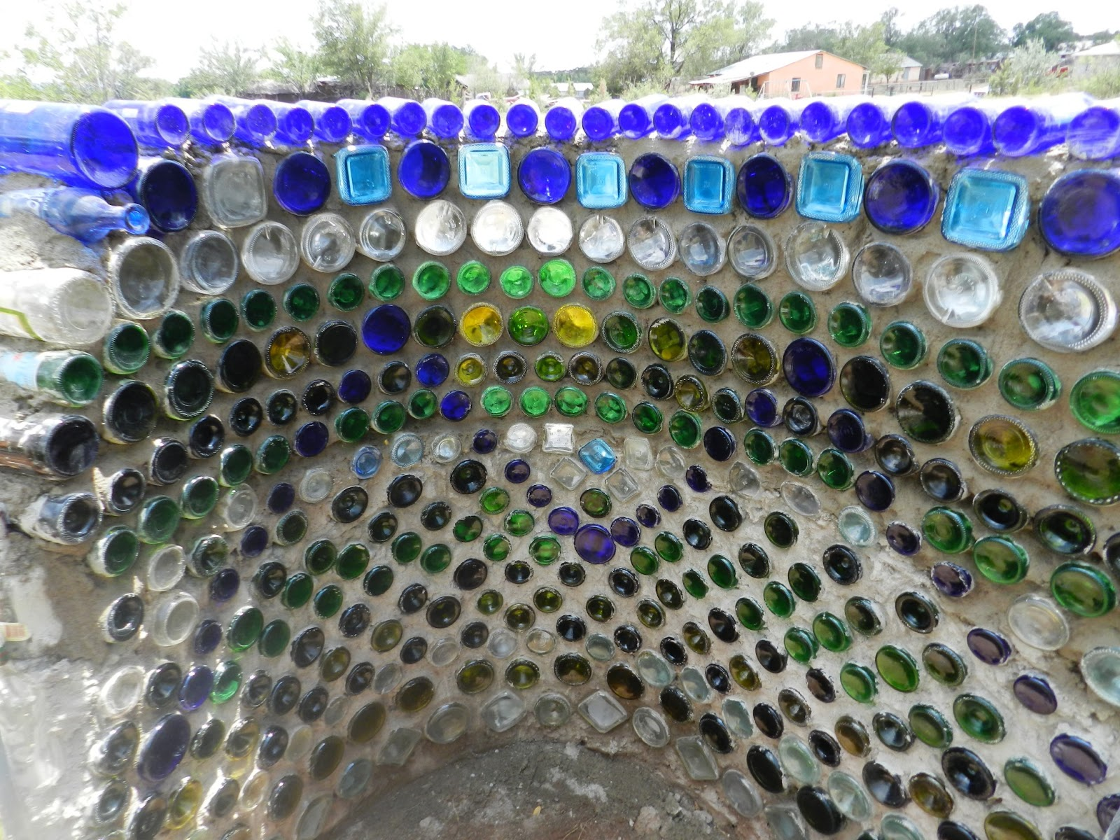 Spirit sol glass bottle wall for Recycled wall