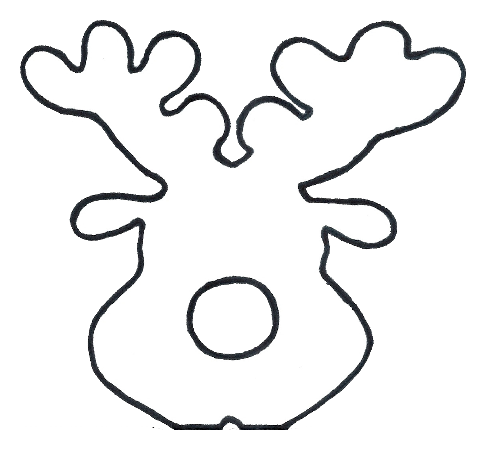 Epic image for reindeer printable template
