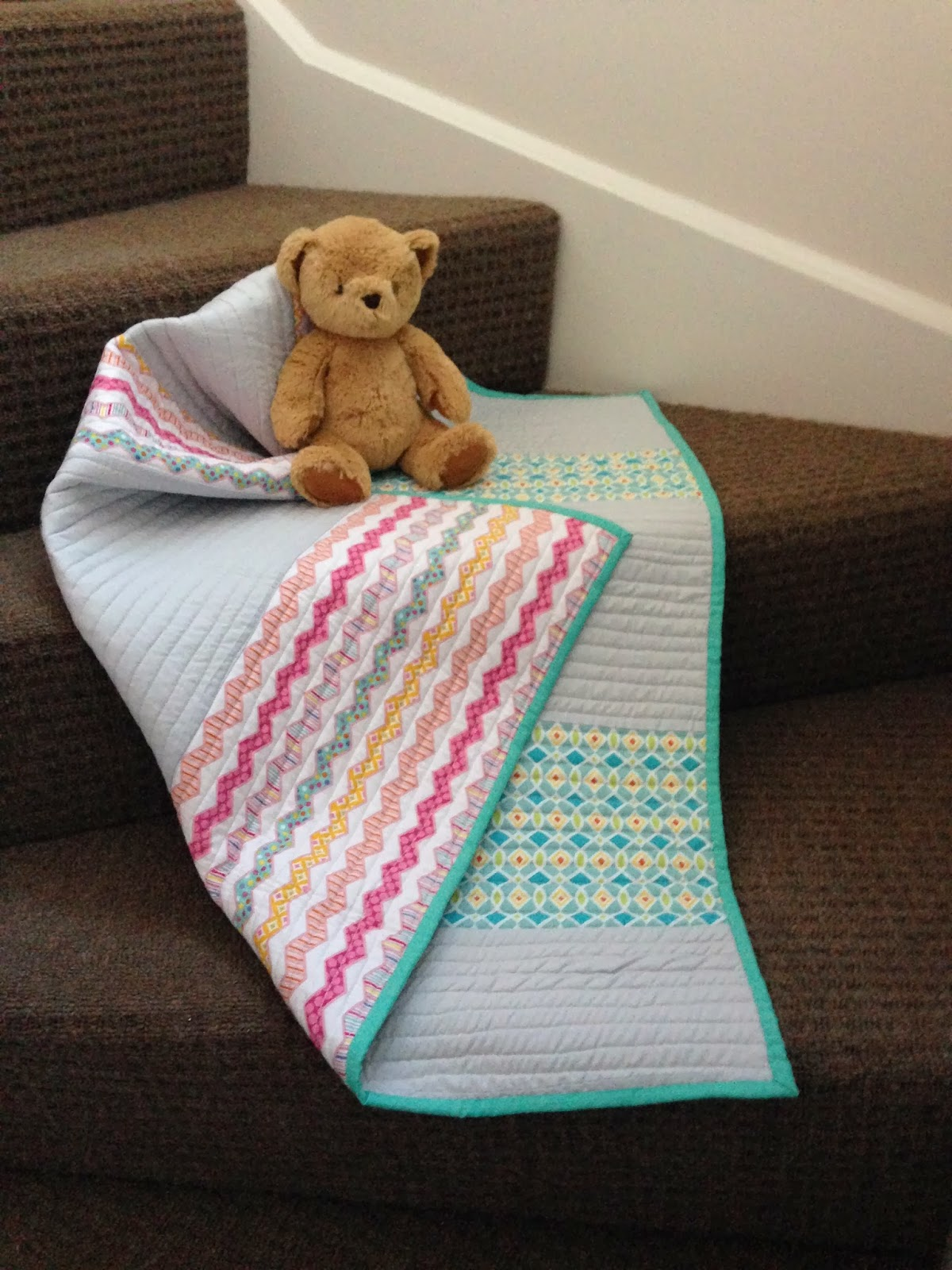 Bundles and buttons floor blanket for baby for Floor quilt for babies