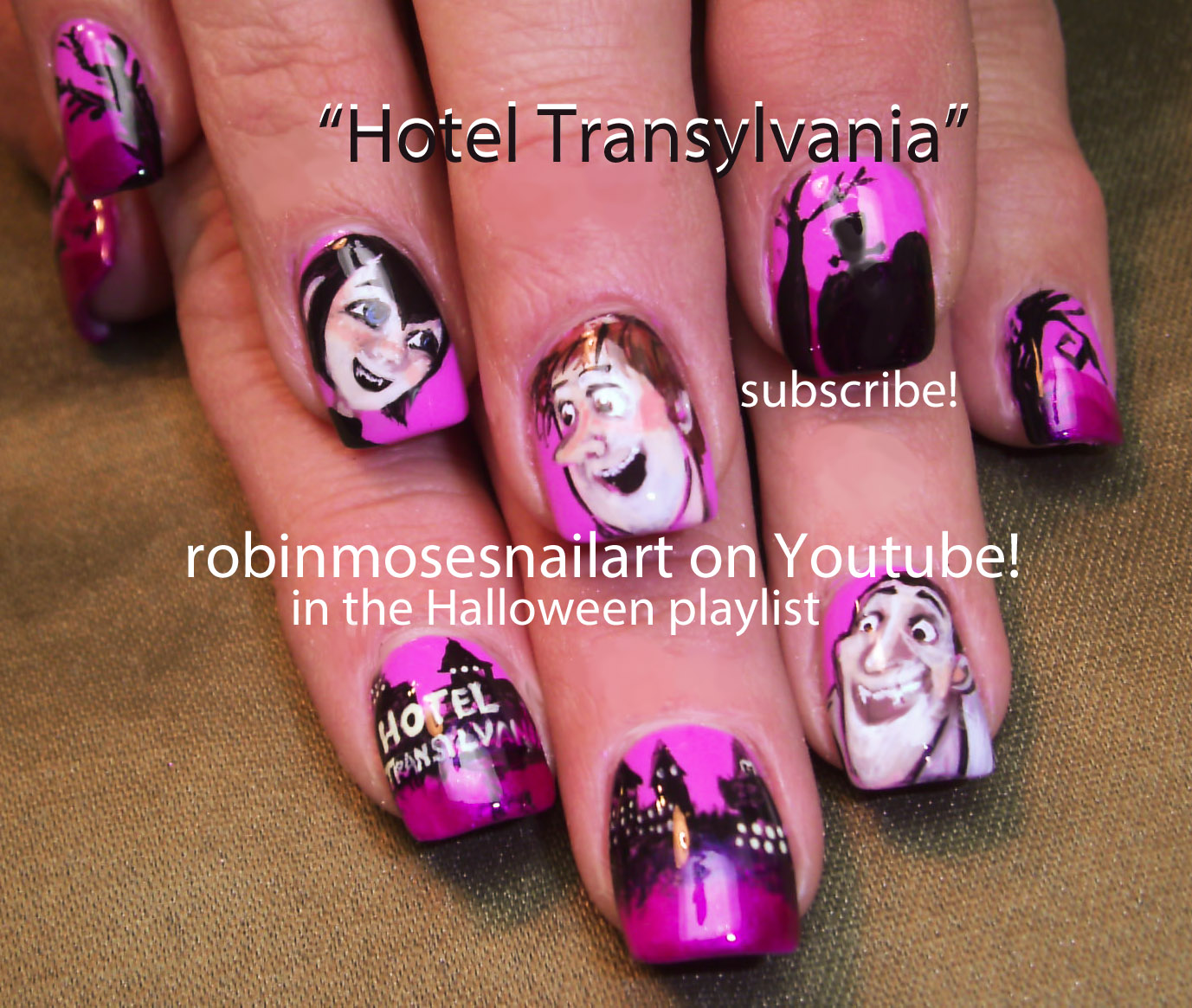 HOTEL TRANSYLVANIA nail art cartoon…