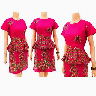 DB3254  Model Baju Dress Batik Modern Terbaru 2013