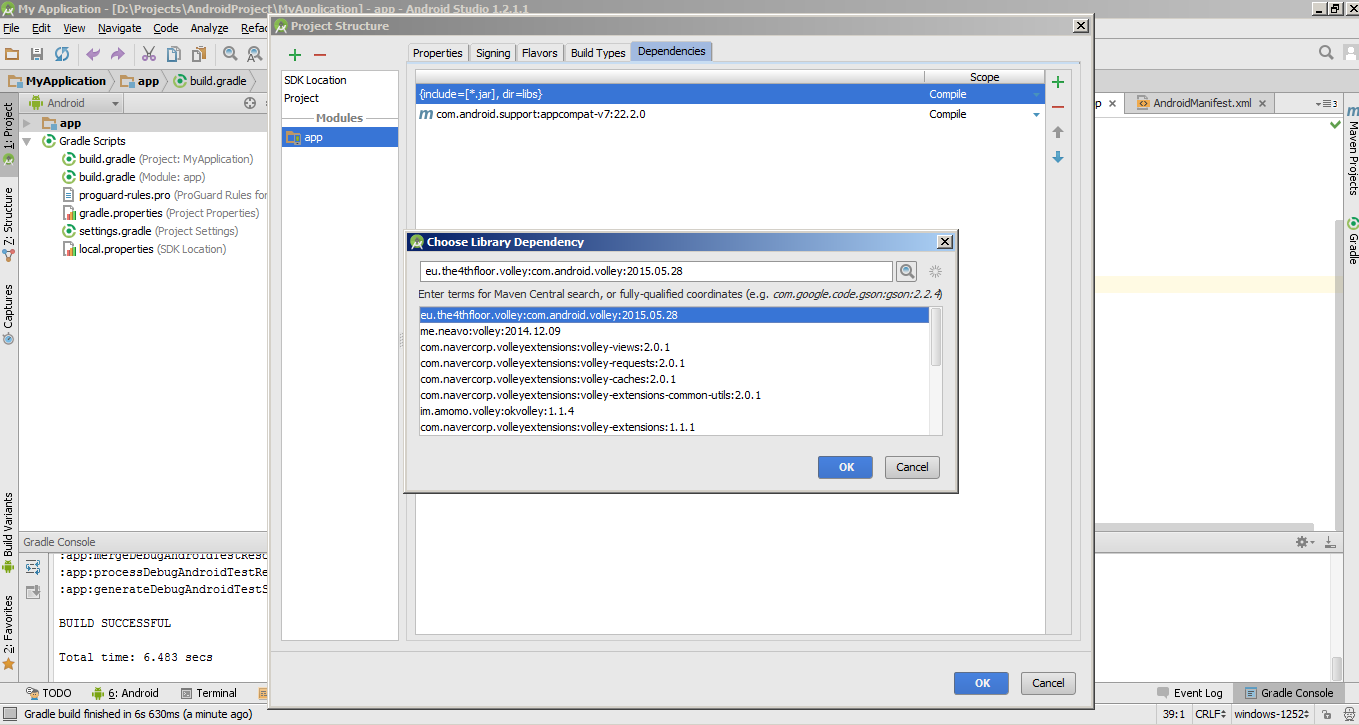 how to open build.gradle file in android studio