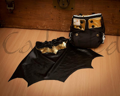Batman WAHM custom cloth diaper by Cadoozled