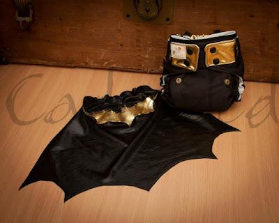 Batman WAHM custom cloth diaper by Cadoozled