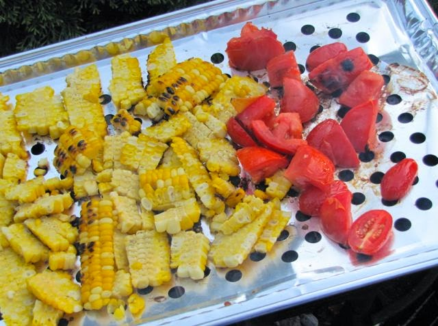 Diane Carnevale: Grilled honey-chili-lime shrimp + charred ...