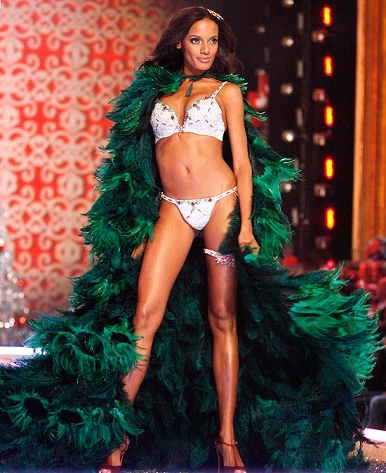 Holiday Fantasy Bra modelled by Selita Ebanks