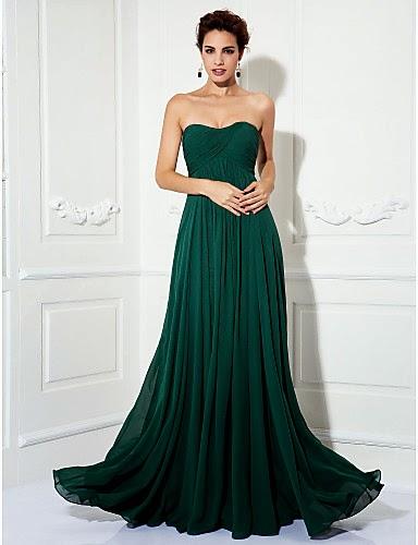 Vestido de Noche Gasa Verde
