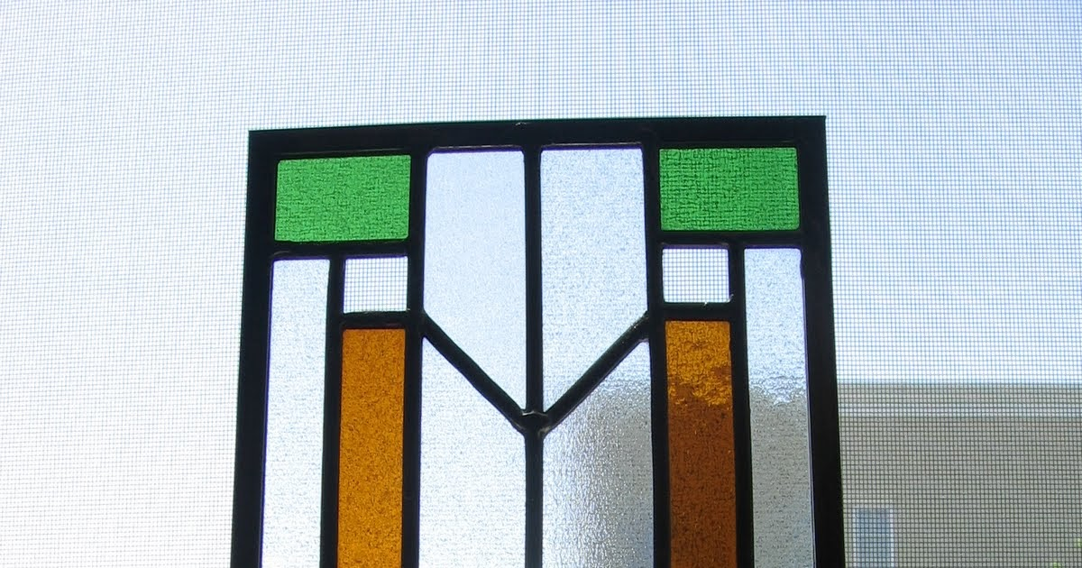 Needle and Spatula: Prairie Style Stained Glass