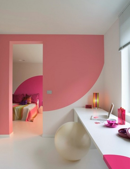 Bathroom Pink Wall Colours Decoration Ideas | Interior ...