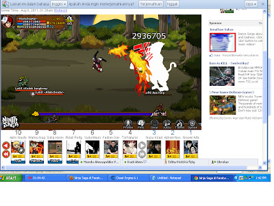 Cheat Ninja Saga 1 Hit Kill Cheat Engine Terbaru Agustus 2012