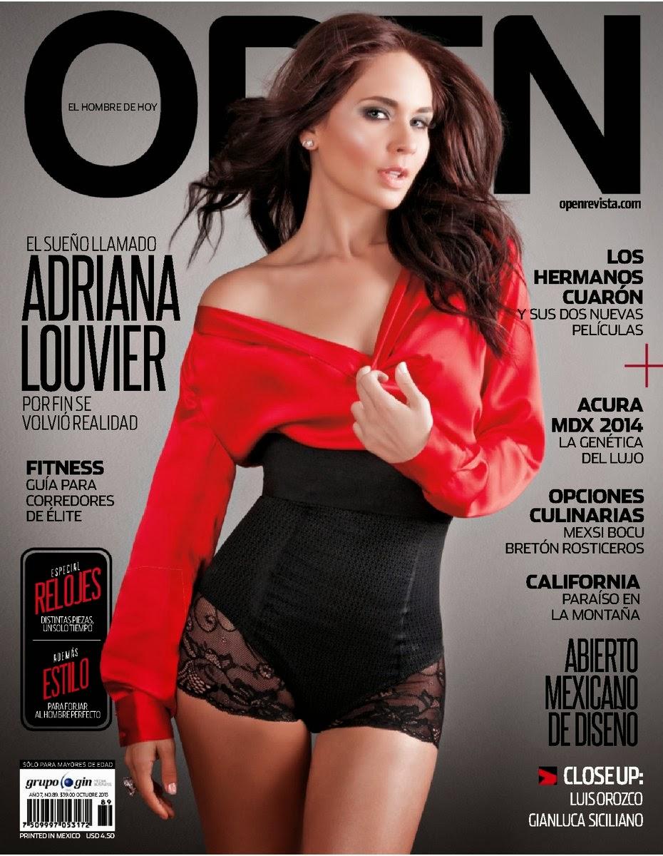 Adriana Louvier - Open Magazine Mexico October 2013