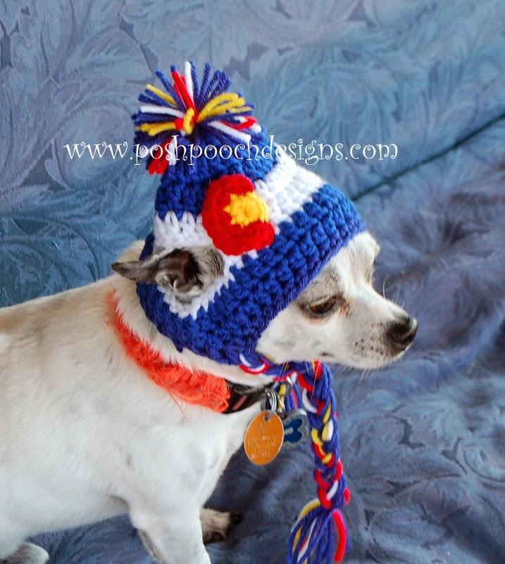 Posh Pooch Designs Dog Clothes: Colorado Dog Beanie ...