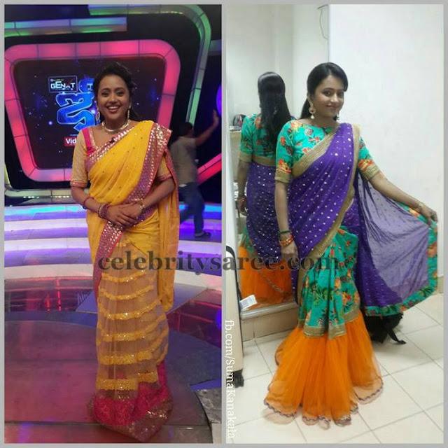 Suma Kanakala Half and Half Saris