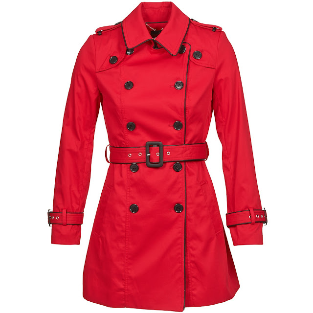 trench in rosso
