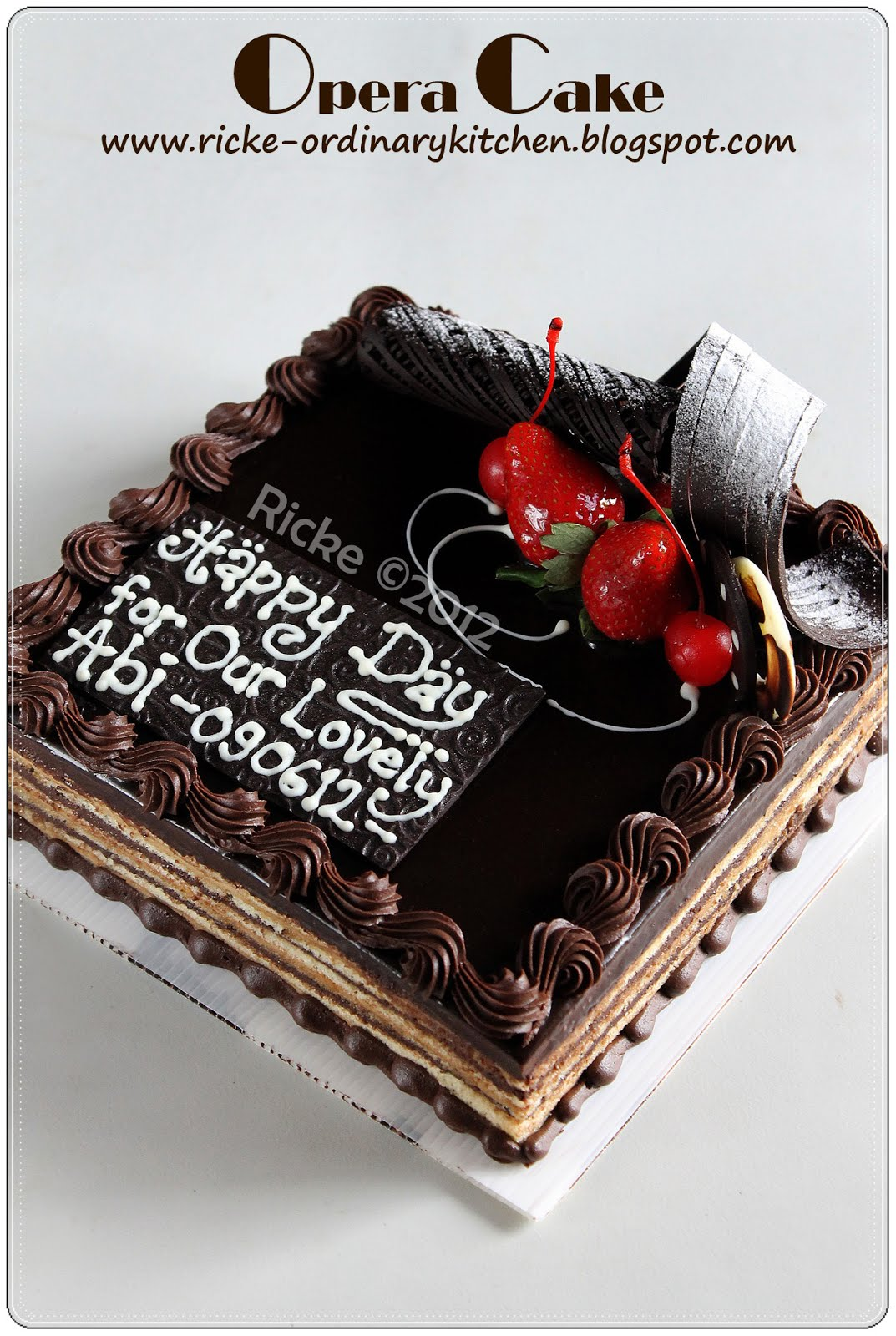 Opera Cake Resep a Very Late Post Opera Cake
