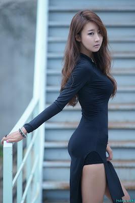 Park Hyun Sun Sexy Model in Black