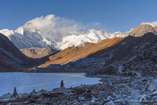Everest with a height of 8848 meters