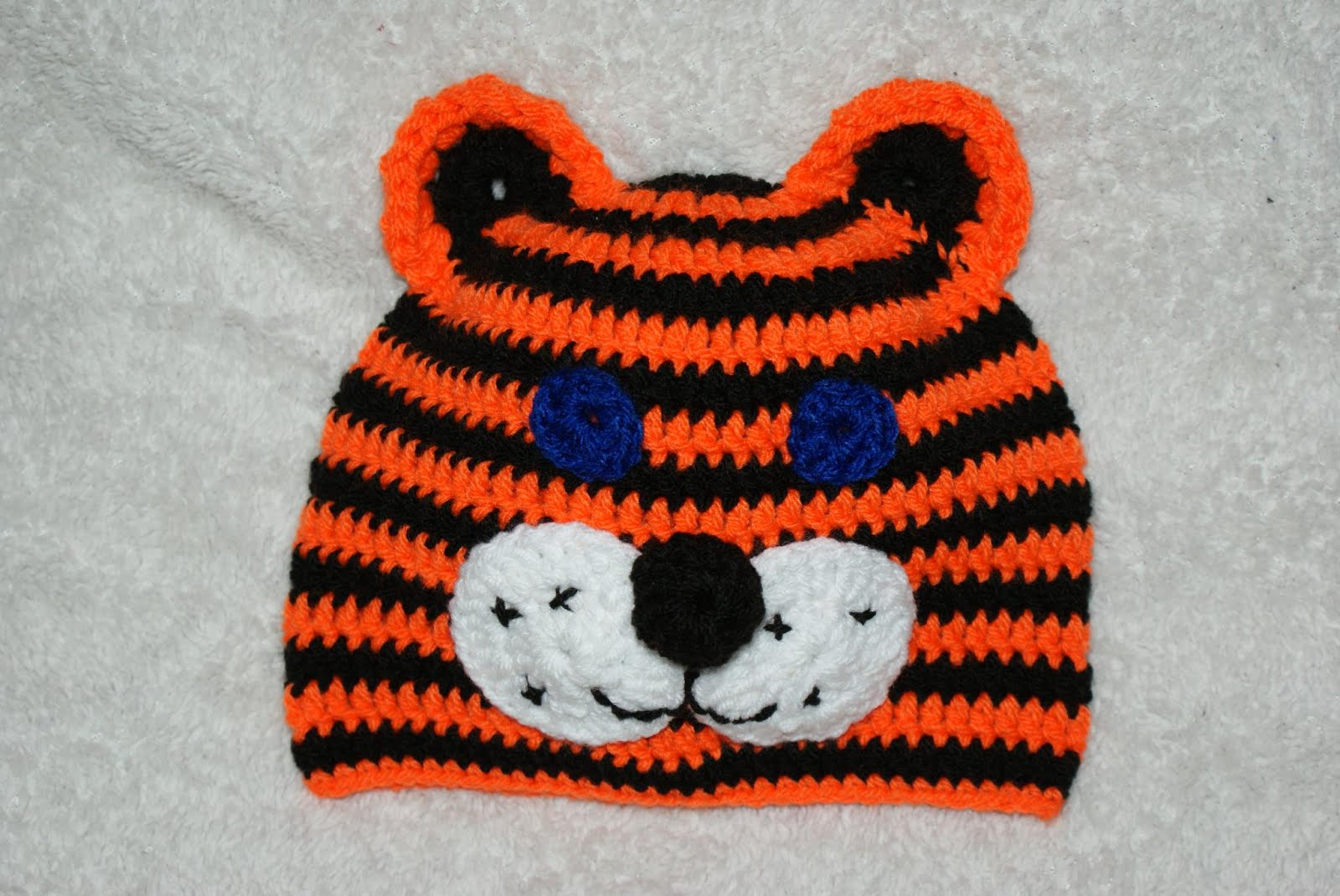 crochet magic for all: Crochet tiger hat for kids