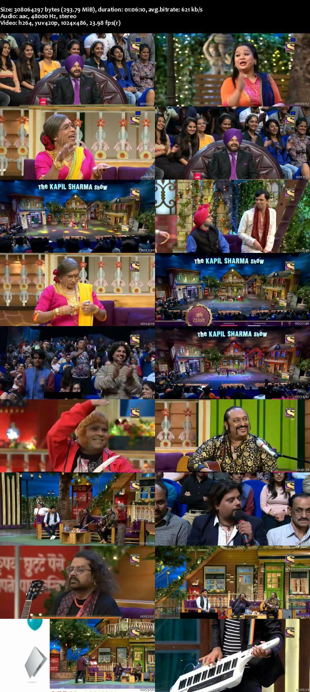 Screen Shot Of The Kapil Sharma Show 6th August 2017 Episode 126 300MB Watch Online