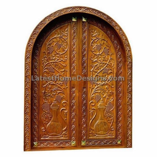 Top Front door design patterns for Double door - Latest Home Designs