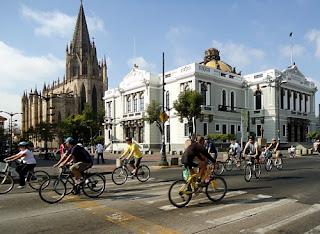 Fahrradfahren in Mexiko