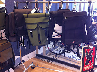 Chrome bags at Reser Bicycle Outfiters OTR