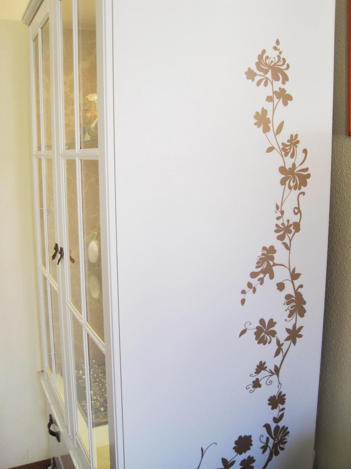 Ikea hack antes y despu s del armario birkeland de - Vinilos para decorar armarios ...