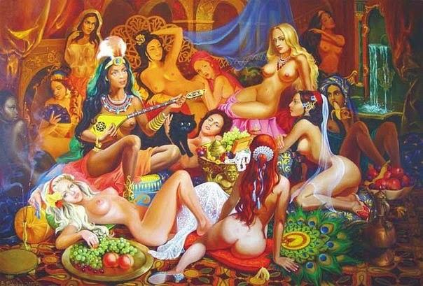As virgens aguardando os fiéis ao islam