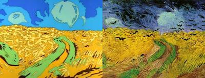 Pole pszenicy z krukami, Vincent van Gogh