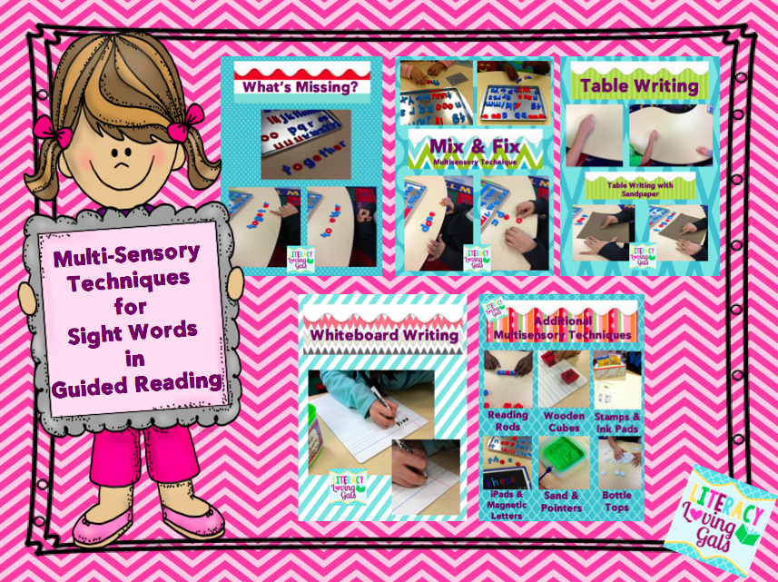 Literacy Loving Gals: Multi-sensory Techniques for Sight Words in ...