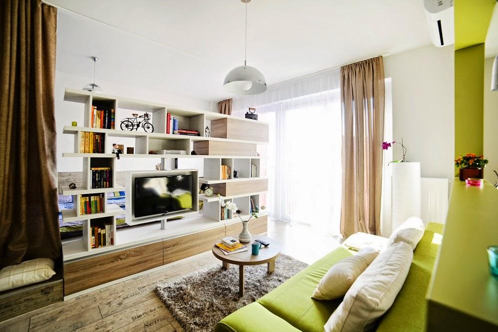 Дизайн минимализм однокомнатной квартиры студии 40 кв.м