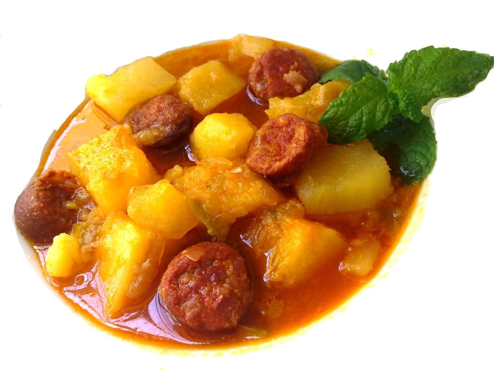 nuestras recetas familiares patatas con chorizo a la