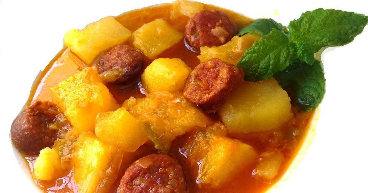 Nuestras recetas familiares patatas con chorizo a la - Judias con chorizo y patatas ...