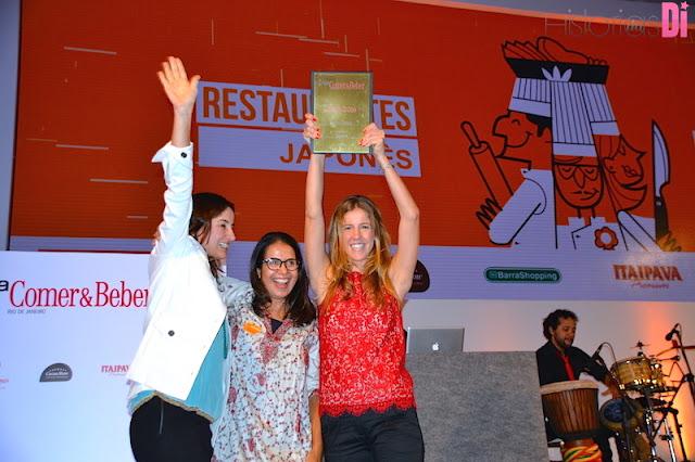 Vencedores da categoria Restaurante Japonês: Sushi Leblon
