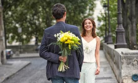 Do You Expect Too Much From Your Mate - man surprise woman give flower