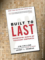 "Beauty shot picture of book by Jim Collins and Jerry Porras, ""Built to Last"", ""Successful Habits of Visionary Companies"""