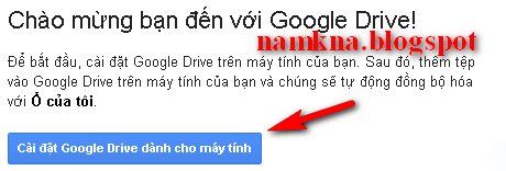 """Download Google Drive for Mac"" hoặc ""Download Google Drive for Windows"""