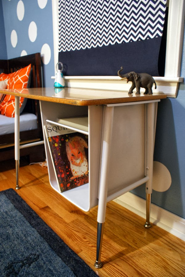 Vintage school desk revamped with spray paint